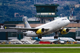 Vueling plane to take off