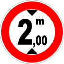 Maximum height limit allowed: 2,00 meters